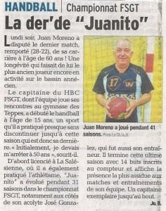 Handball Juan Moreno